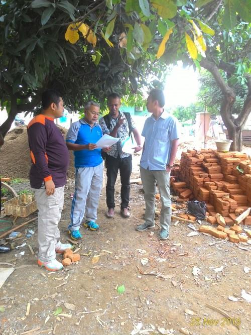 Monitoring Pembangunan Aula Kantor Kecamatan